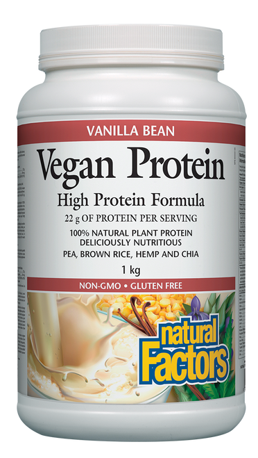 Natural Factors: Vegan Protein - Vanilla Bean (1kg)