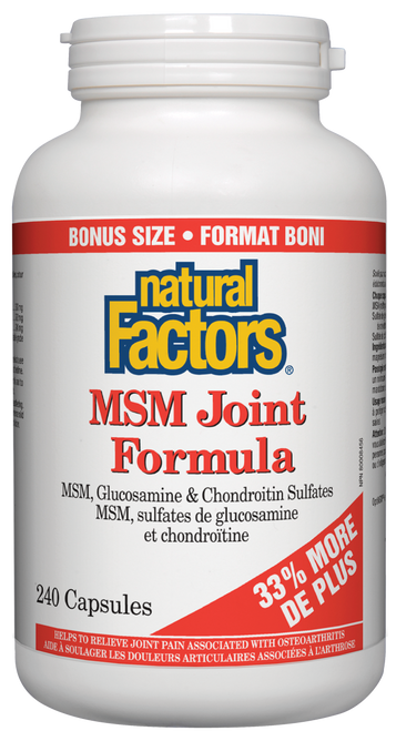 Natural Factors: MSM Joint Formula (Bonus) (240 Capsules)