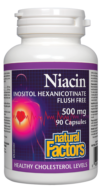 Natural Factors: Niacin Inositol Hexanicotinate - Flush Free (500mg) (90 Capsules)
