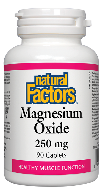 Natural Factors: Magnesium Oxide (250mg) (90 Caplets)