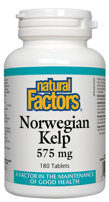 Natural Factors: Norwegian Kelp (575mg) (180 Tablets)