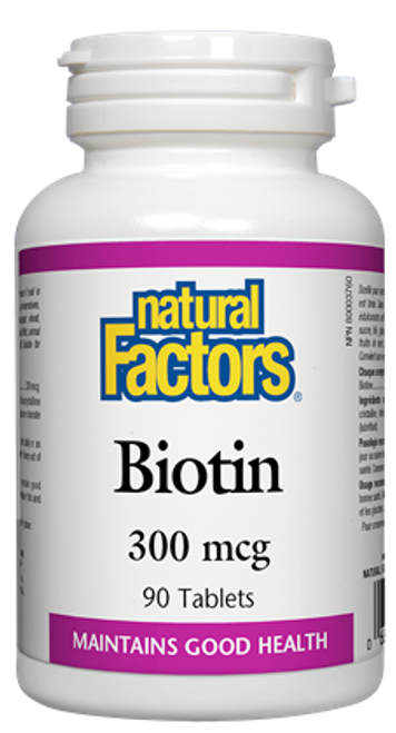 Natural Factors: Biotin (300Mcg) (90 Tablets)