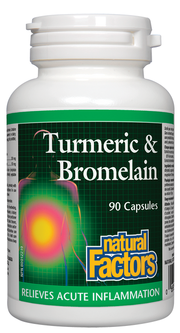 Natural Factors: Turmeric & Bromelain (90 Capsules)