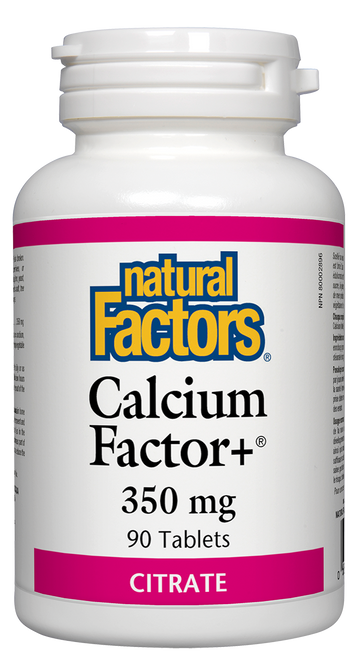 Natural Factors: Calcium Factor+ (350mg) (90 Tablets)