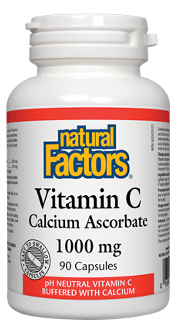 Natural Factors: Vitamin C Calcium Ascorbate (1000mg) (90 Capsules)