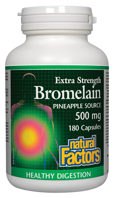 Natural Factors: Extra Strength Bromelain (Pineapple Source) (500mg) (180 Capsules)
