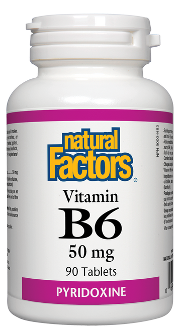 Natural Factors: B-6 (50mg) (90 Tablets)