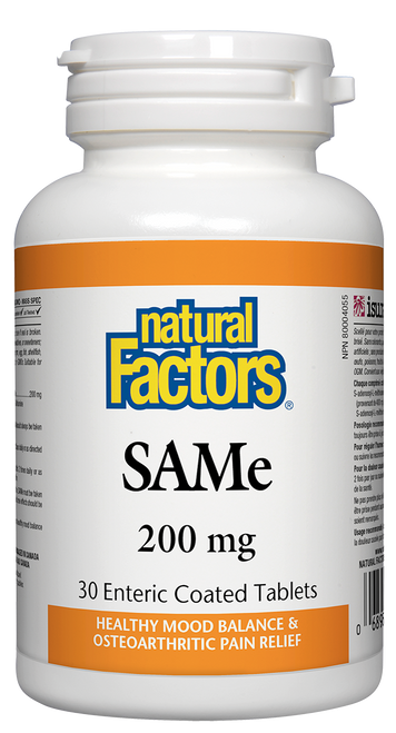 Natural Factors: SAMe (200mg) (30 Enteric Coated Tablets)