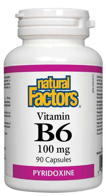 Natural Factors: Vitamin B-6 (100mg) (90 Capsules)