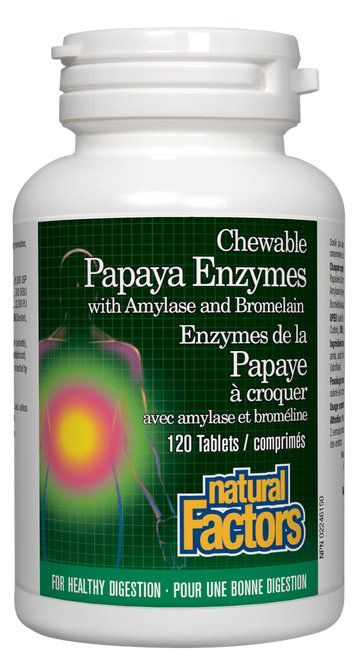 Natural Factors: Papaya Enzymes (120 Chewable Tablets)