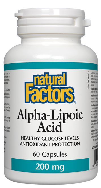 Natural Factors: Alpha Lipoic Acid (200mg) (60 Capsules)