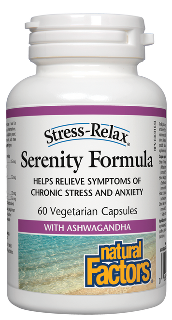 Natural Factors: Stress Relax Serenity Formula (60 Vegetarian Capsules)