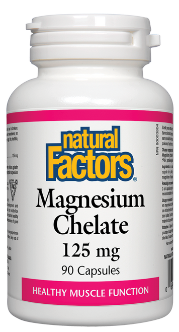 Natural Factors: Magnesium Chelate (125mg) (90 Tablets)