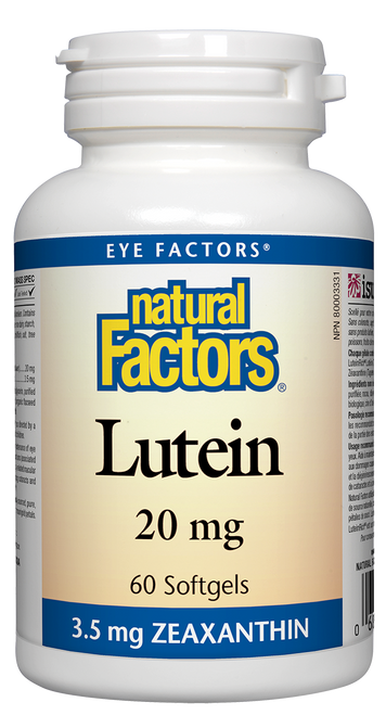 Natural Factors: Lutein (20mg) (60 SoftGels)
