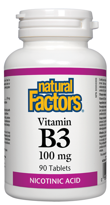 Natural Factors: Vitamin B-3 (100mg) (90 Tablets)