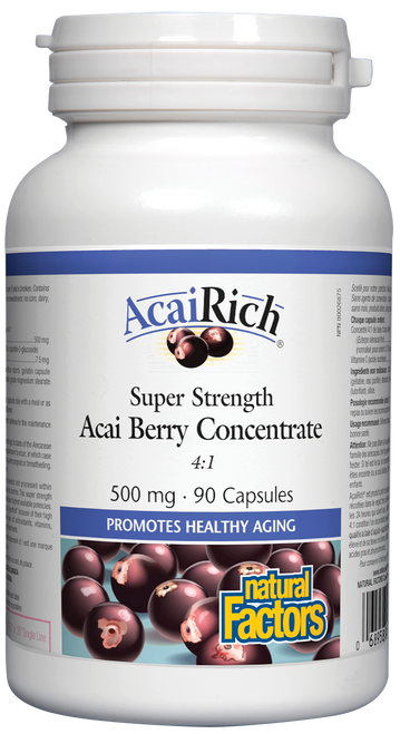 Natural Factors: AcaiRich - Super Strength (500mg) (90 Capsules)
