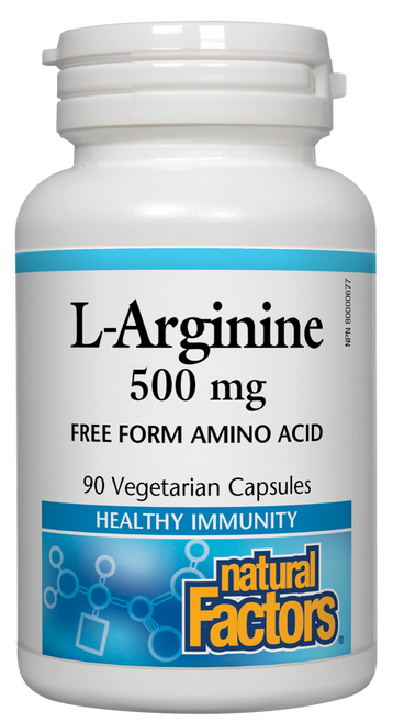 Natural Factors: L-Arginine (500mg) (90 Vegetarian Capsules)