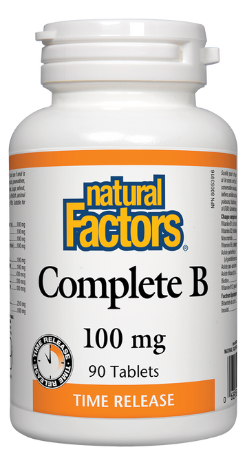 Natural Factors: Complete B (100mg) Tablet (90 Tablets)