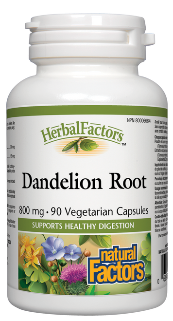 Natural Factors: Dandelion Root (800mg) (90 Vegetarian Capsules)