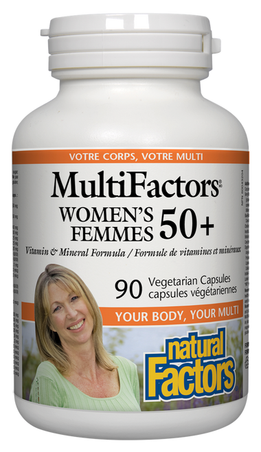 Natural Factors: MultiFactors Women's 50+ (90 Vegetarian Capsules)