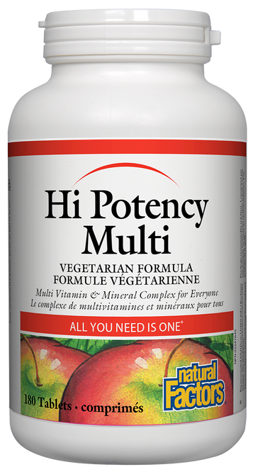 Natural Factors: Hi-Potency Multi Vegetarian Formula (180 Tablets)