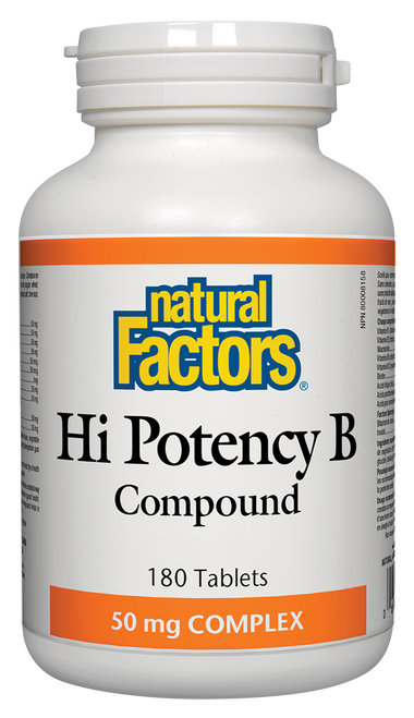 Natural Factors: Hi-Potency B Compound (180 Tablets)