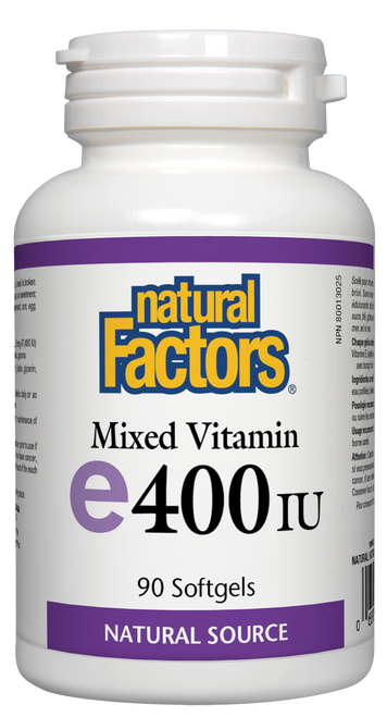 Natural Factors: Mixed Vitamin E (400iu) (90 SoftGels)