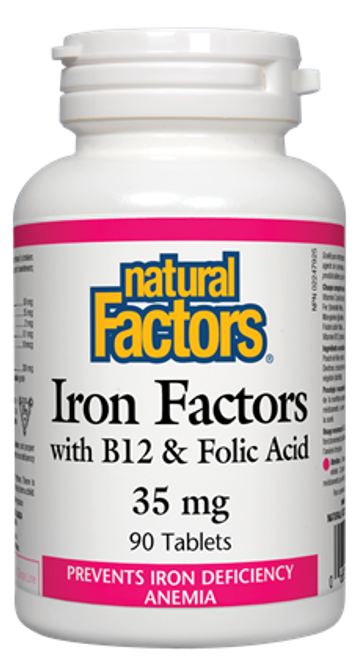 Natural Factors: Iron Factors (35mg) (90 Tablets)