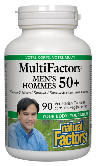 Natural Factors: MultiFactors Men's 50+ (90 Vegetarian Capsules)