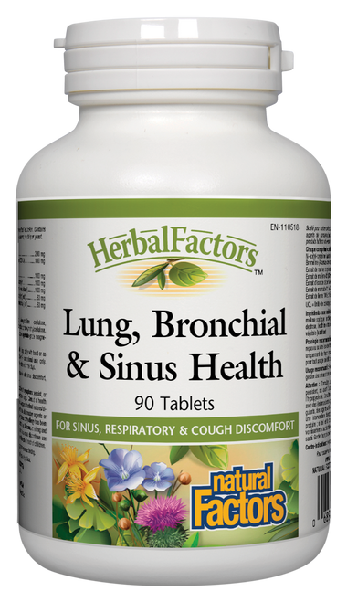 Natural Factors: Lung Bronchial & Sinus Health (90 Tablets)