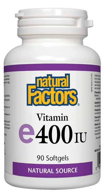 Natural Factors: E (400iu) (90 SoftGels)