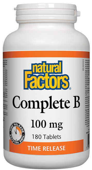 Natural Factors: Complete B (100mg) Timed-Release (180 Tablets)