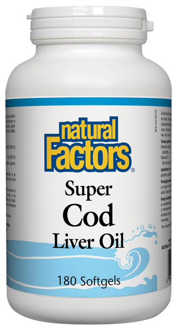 Natural Factors: Super Cod Liver Oil (180 Capsules)