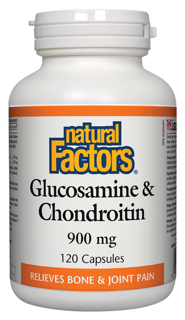 Natural Factors: Glucosamine & Chondroitin Sulfates (900mg) (120 Capsules)