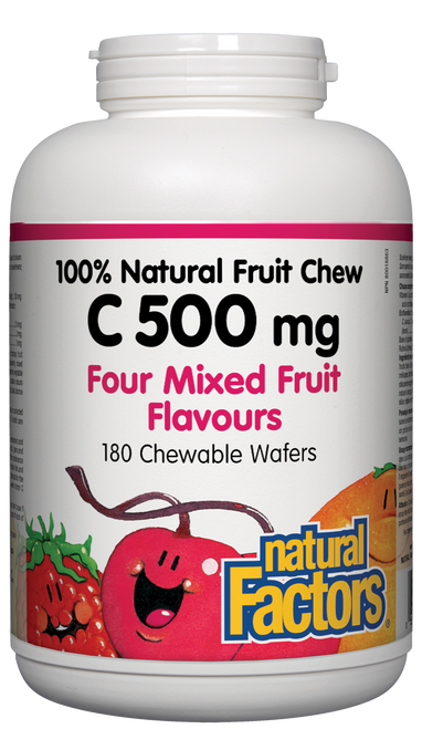 Natural Factors: Vitamin C Natural Fruit Chew - Mixed Fruit (500mg) (180 Chewables)