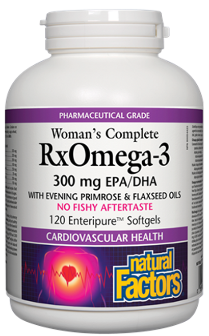 Natural Factors: Woman's Complete Rx Omega-3 (300 mg EPA/DHA) (120 SoftGels)