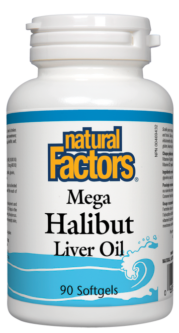 Natural Factors: Mega Halibut Liver Oil (90 SoftGels)