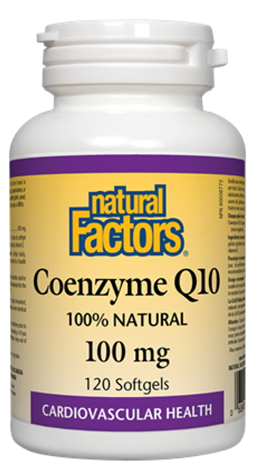 Natural Factors: Coenzyme Q10 (100mg) (120 SoftGels)