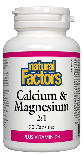 Natural Factors: Calcium & Magnesium 2:1 (90 Capsules)