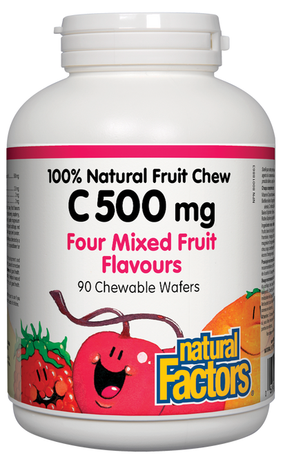 Natural Factors: Natural Fruit Chew C (500mg) Mixed Fruit (90 Chewables)