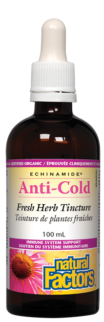 Natural Factors: Echinamide Anti-Cold Fresh Herb Tincture (100ml)