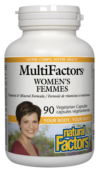 Natural Factors: MultiFactors Women's (90 Vegetarian Capsules)