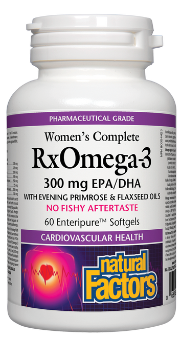 Natural Factors: Women's Complete Rx Omega-3 Factors (300 mg EPA/DHA) (60 SoftGels)