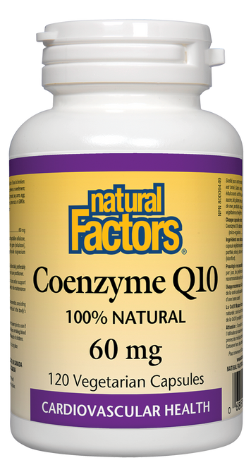 Natural Factors: Coenzyme Q10 (60mg) (120 Vegetarian Capsules)