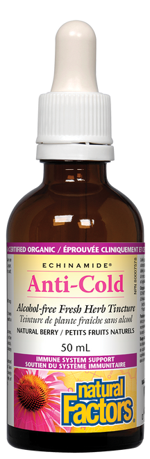 Natural Factors: Echinamide Anti-Cold Alcohol Free Herb Tincture (50ml)