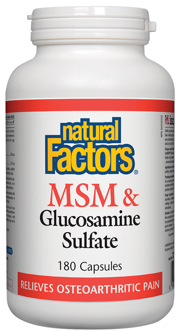 Natural Factors: MSM & Glucosamine Sulfate (180 Capsules)