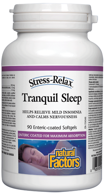 Natural Factors: Stress Relax Tranquil Sleep Enteric Coated (90 SoftGels)