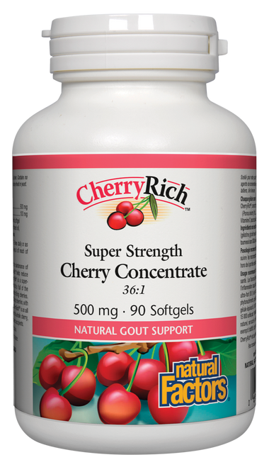 Natural Factors: Cherryrich Super Strength Concentrate (500 mg) (90 Capsules)