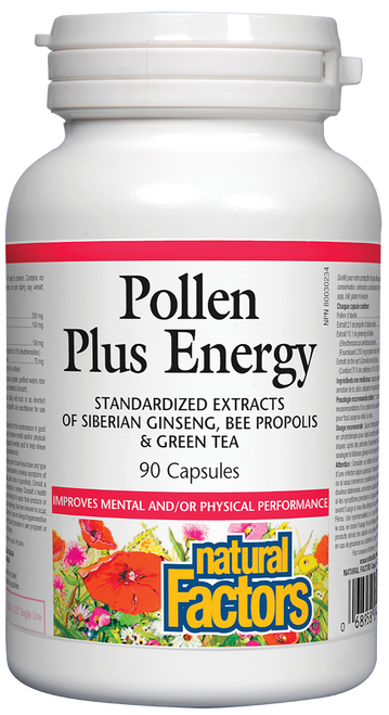 Natural Factors: Pollen Plus Energy (90 Capsules)
