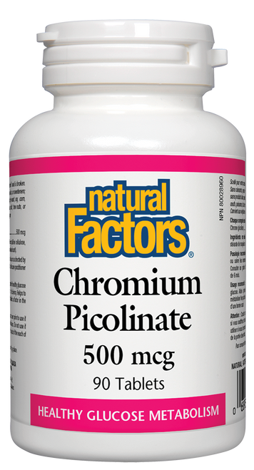 Natural Factors: Chromium Picolinate (500mcg) (90 Tablets)
